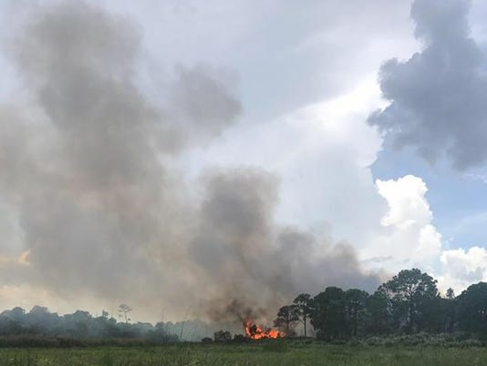 Brush fire under control in Port St. Lucie