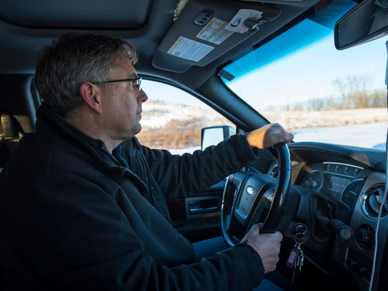 St. Clair County Drain Commissioner Bob Wiley  drives