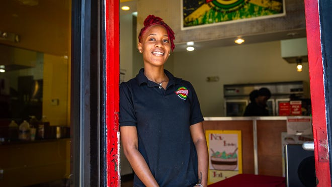 """You're going to get a taste of Jamaica and a different twist of the food as well with a little bit of Chicago,"" says Kadejia Berkley of what you can expect at Jerk Shop Go on South Fifth Street ""Just come in with an open stomach and an open mind and you'll be fully satisfied."""