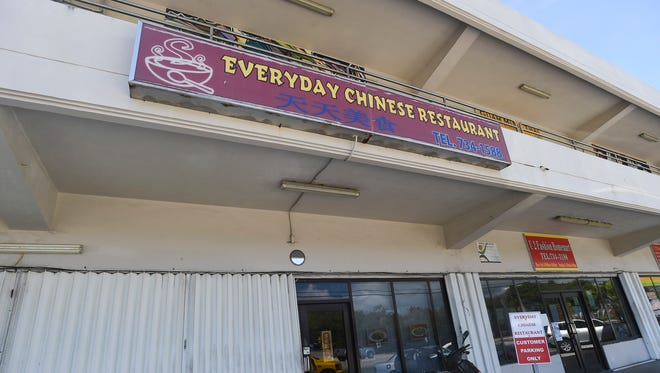 The Everyday Chinese Restaurant in Mangilao on Jan. 29, 2018. The restaurant's sanitary permit has been suspended following its inspection report, which recorded 57 demerits.