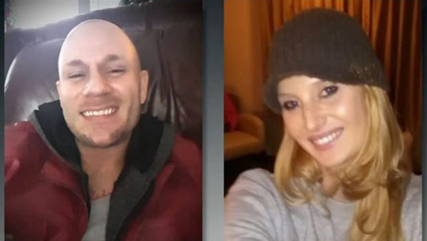 Blake Fitzgerald, left, was killed Friday, Feb. 5, 2016, during a shootout with law enforcement in Santa Rosa County, Fla. Brittany Nicole Harper was shot in the legs and taken to the hospital. The Missouri couple were suspected in a series of robberies and abductions in Alabama and Georgia.