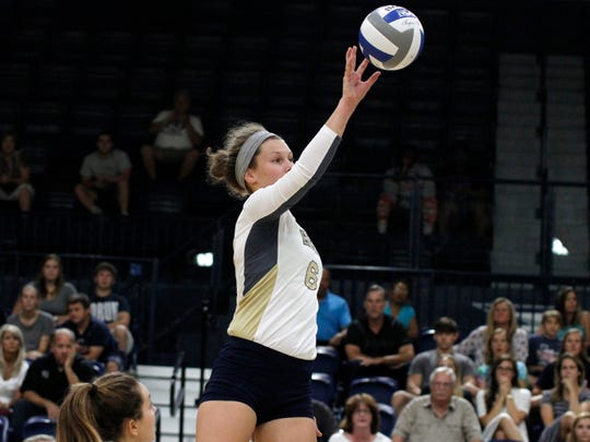 Eastern York graduate Lauren Reichard leads the Georgia Southern women's volleyball team in blocks and solo blocks, and she's third in kills.