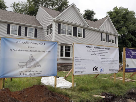 The Antioch Homes Apartments under construction are