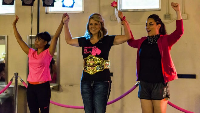 The Aveda Institute held a Charity boxing event to raise funds for breast cancer research as well as to honor three women who are fighting the disease.
