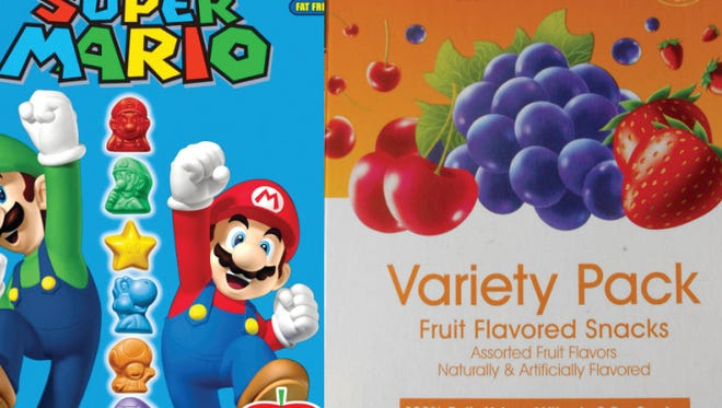 Parents connect characters with sugar content in fruit snacks