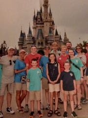 Tom and Jan South celebrated their 50th anniversary with family at Disneyworld in June.