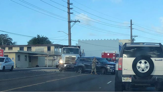 A crash along Route 8 near Subway has closed off all southbound lanes, Guam Police Department spokesman Sgt. Paul Tapao said.