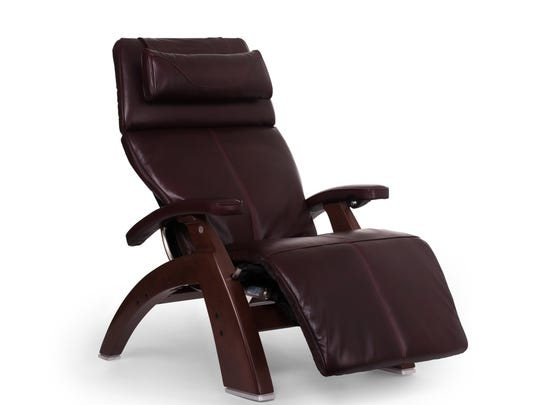 Human Touch's Perfect Chair's joystick reclining mechanism can malfunction and allow the chair to continue moving, posing a fall hazard.