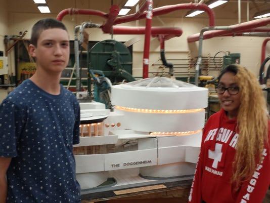 MCVTS students build doghouse