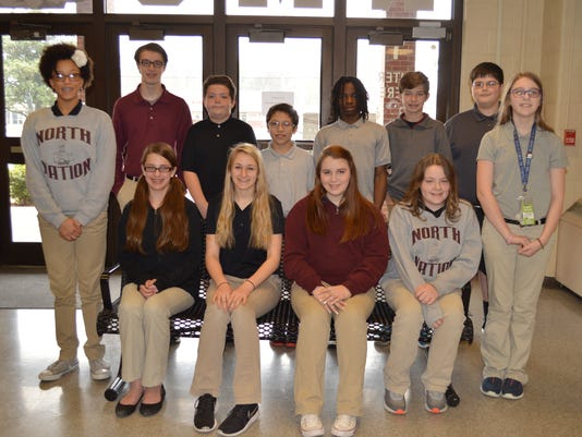North Middle February students of the month