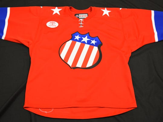 The special 60th anniversary sweater that the Amerks will wear for the Jan. 8 celebration game against the Hershey Bears.