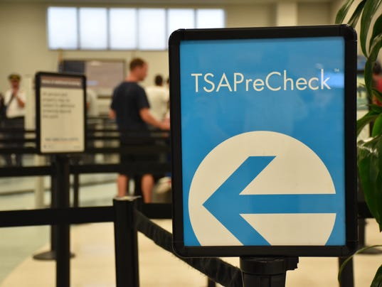 TSA checkpoint at Pensacola International Airport