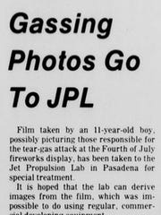 This story appeared in the July 16, 1976, edition of The Desert Sun.