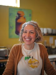 Lori Stern serves up daily specials at Cow & Quince café, New Glarus, featuring ingredients from local farms