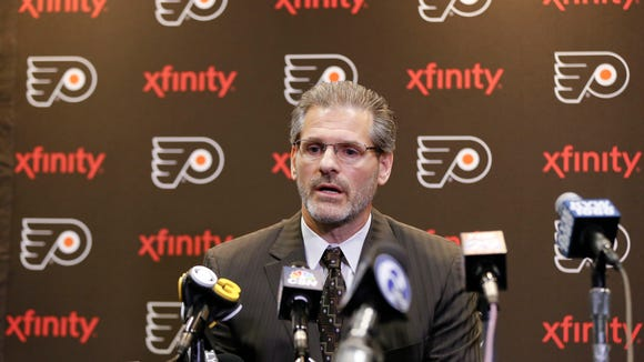 Flyers general manager Ron Hextall has the 18th pick in the NHL draft...for now.
