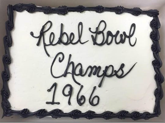 The seniors from Cohn's 1966 Rebel Bowl championship