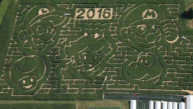 "A ""Super Mario Bros."" corn maze opens this weekend at Stoughton Farm in Newark Valley."
