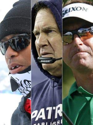 It's been a rough week for golfer Tiger Woods, New England Patriots head coach Bill Belichick and golfer Robert Allenby.