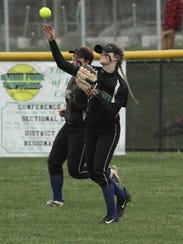 Clear Fork's Carson Crowner  throws into the in field