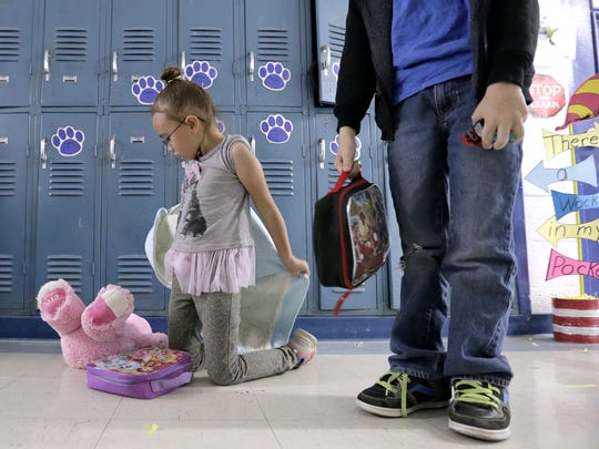 Dell City School kindergarten student Aurora Bell,