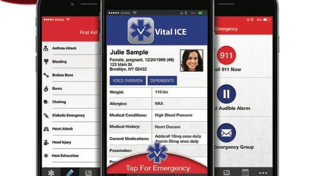 A free app, Vital ICE, gives first responders the information they need to help a person who is unable to communicate to  police or paramedics.