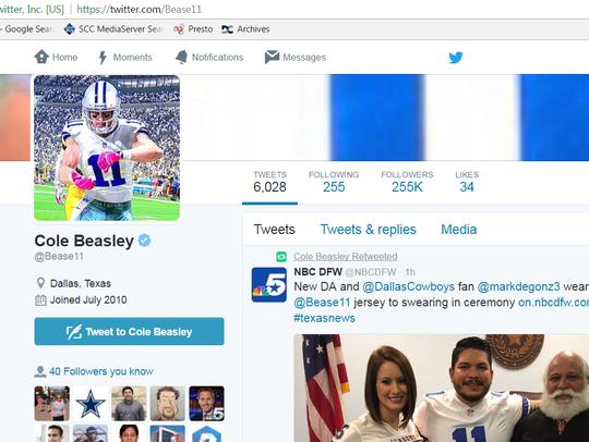 Even Dallas Cowboys wide receiver Cole Beasley noticed