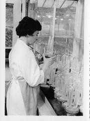 Irmgard Muller at Cornell University's Plant Virology Lab.
