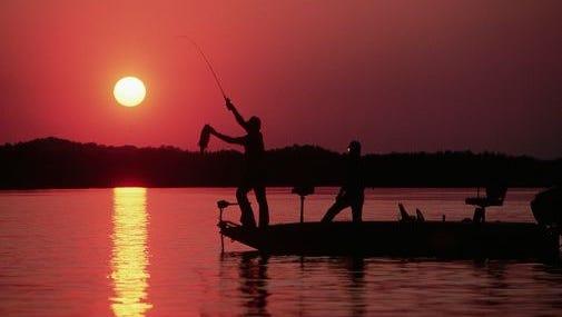 Fisherman's Sunset on Eufaula Lake