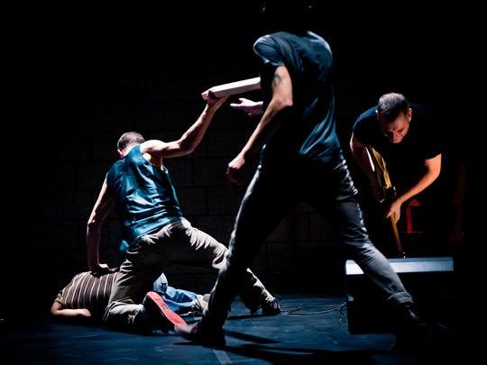 Choreographer Ishmael Houston-Jones and his dancers perform Sept. 24 at Kaatsbaan Internationl Dance Center in Tivoli.