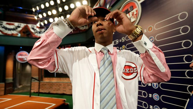 Hunter Greene is expected to pitch as a professional after starring both ways in high school.