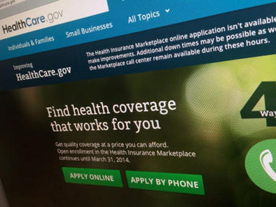 The Affordable Care Act's healthcare.gov website, where