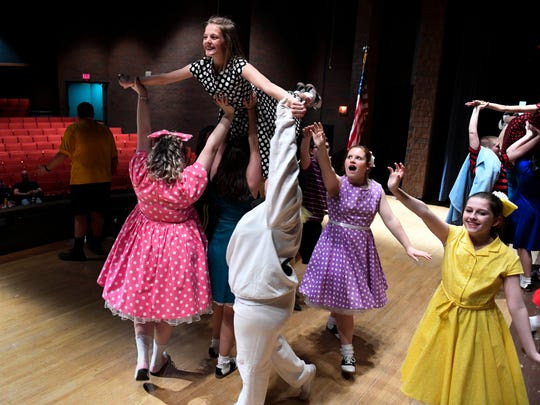 "One of the dance scenes from the Tecumseh High School spring musical ""You're a Good Man, Charlie Brown"" during a rehearsal Wednesday, April 12, 2017."