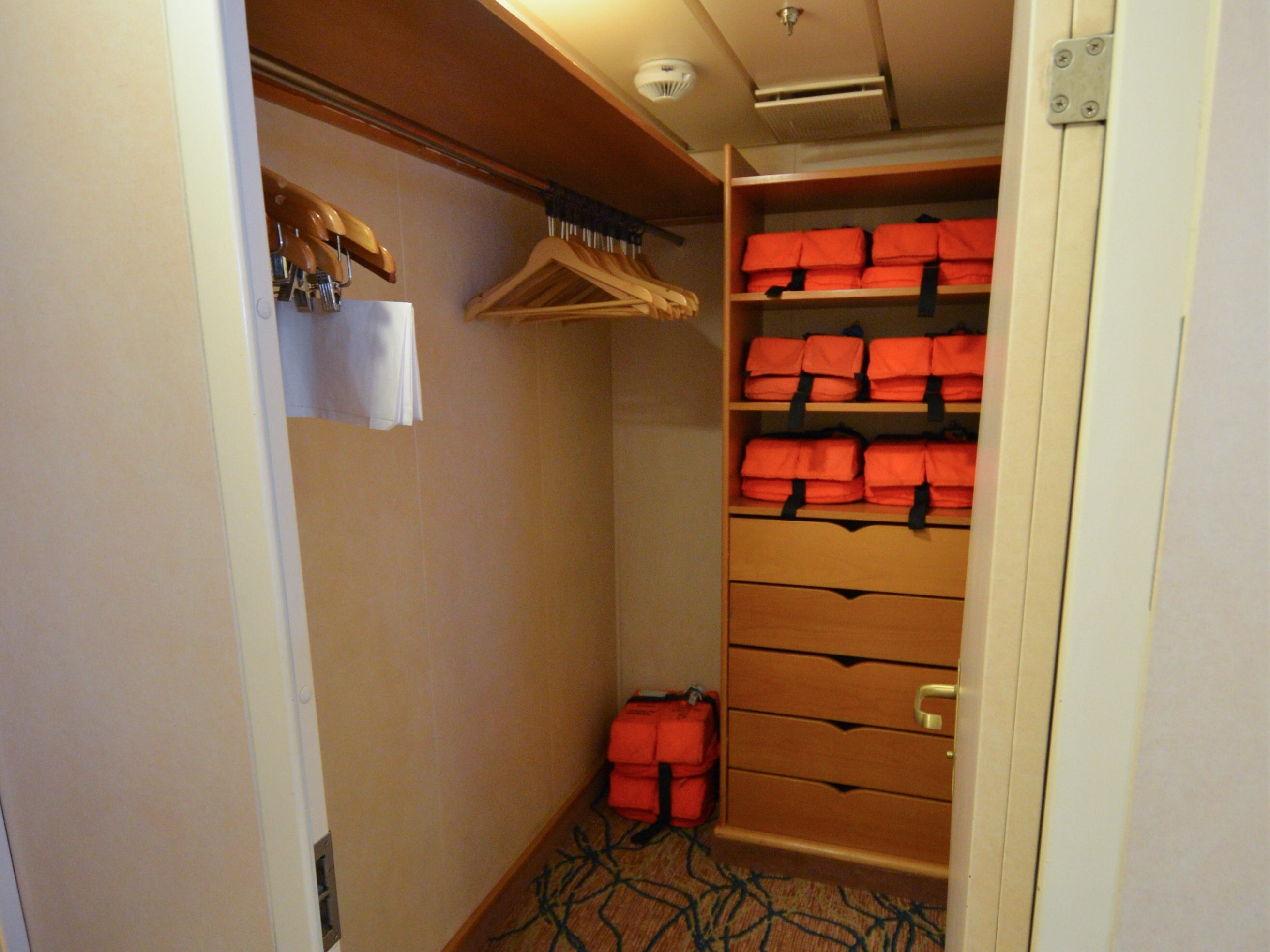 Royal Family Suites have large walk-in closets.