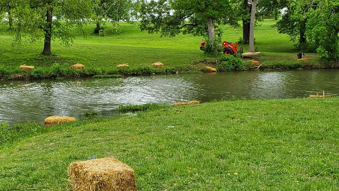Shawnee County Parks and Rec installed bales of barley straw this spring to help curtail the growth of blue-green algae blooms at Lake Shawnee and two other county-run ponds.