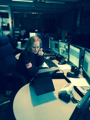 Clarkstown police dispatcher Lorraine Monahan
