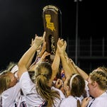 during a state final game in the LHSAA Fast Pitch 56 State Softball Championship tournament at Frasch Park in Sulphur, LA, Saturday, May 2, 2015.