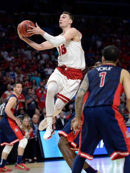 NCAA Basketball: NCAA Tournament-West Regional-Wisconsin vs Arizona