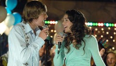 Zac Efron and  Vanessa Anne Hudgens in a scene from