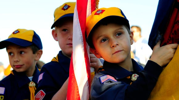 Cub Scouts at an event