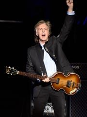 Paul McCartney performs on the One on One Tour at the