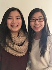 East Brunswick sisters Carmen Phu (left) and Emily Phu (right) have been selected as finalists in a statewide public health contest.