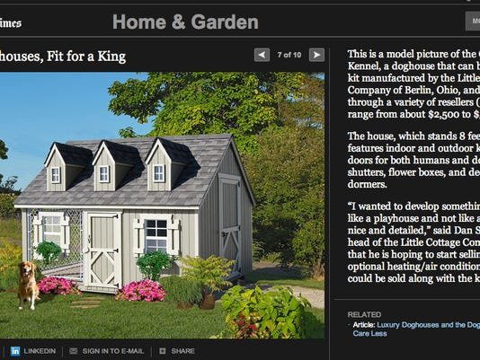 This is a screenshot of the New York Times' doghouse slideshow.