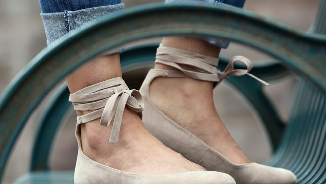 Nude ballerina flats, $49 at S.H.U.E.S in downtown Sioux Falls.