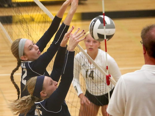 Whitnall Girls Volleyball at Franklin