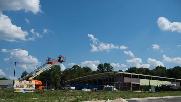 Construction of German supermarket chain Lidl continues