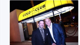 Michael Rose (right), owner of a dozen Gold Club strip clubs, teamed up with Jon Ferraro (left) , owner of Silk Exotic strip club in Milwaukee, in 2014 to open a Gold Club in Las Vegas. Rose posted this image on his Twitter account March 7, 2014. The club closed in just six months, which Rose attributed to differences in business philosophy between him and Ferraro. Rose and Ferraro were later indicted in a sprawling racketeering case. Federal court documents indicate that an undercover FBI agent provided Rose with $200,000 to be laundered through the new Vegas club.
