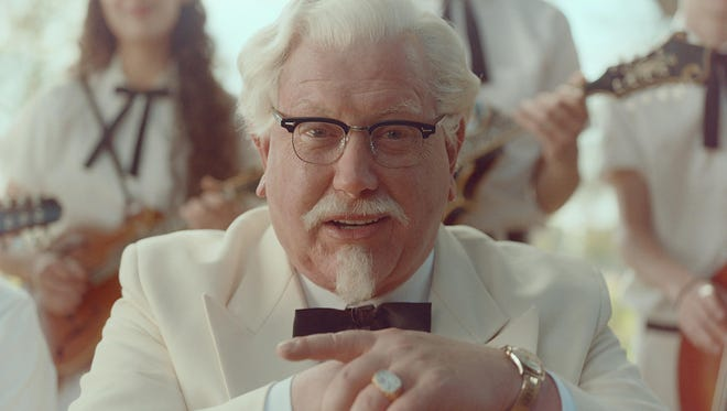 "This image provided by KFC shows ""Saturday Night Live"" alum Darrell Hammond as Colonel Sanders in a new KFC television ad. The real Col. Harland Sanders died nearly 35 years ago, and KFC hasn't featured him in TV ads for about 20 years."