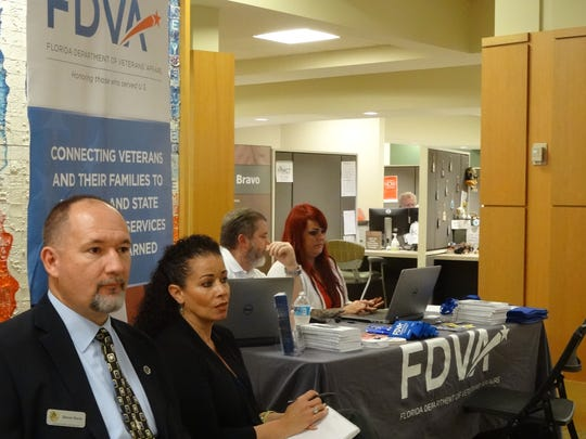 The Florida Department of Veterans Affairs was present