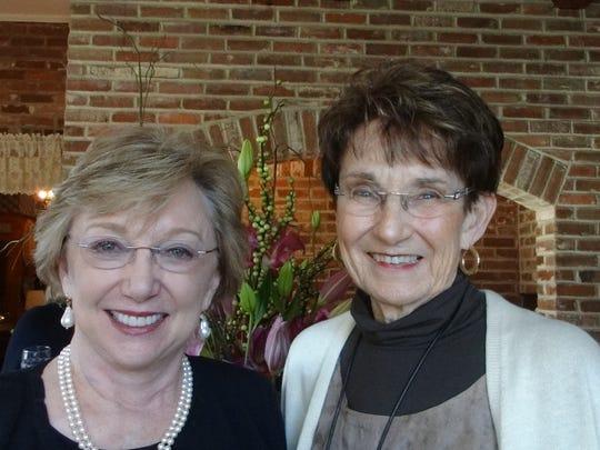 Stephanie Abell and Carole Kilpatrick at Potpourri Book Club.