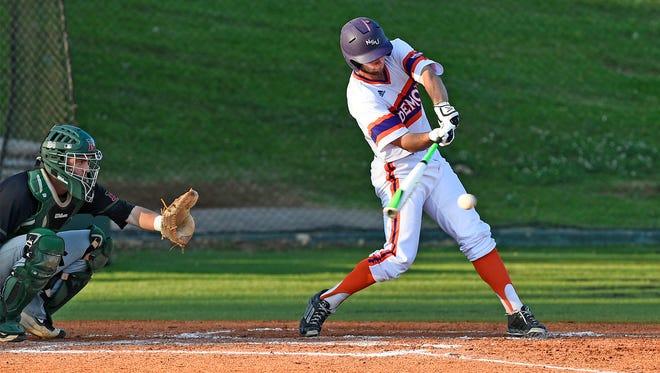 Northwestern State's Matt Valdez takes a swing against Mississippi Valley State on Tuesday.